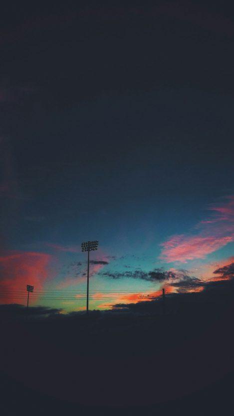 Sunset Sky Dark Beautiful Clouds IPhone Wallpaper