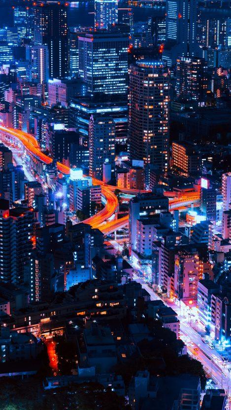 Tokyo City In Night IPhone Wallpaper