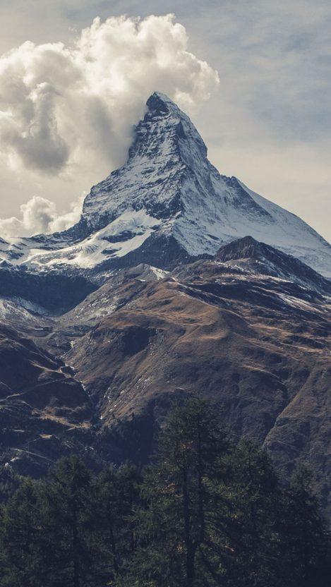 Alps Mountain Snowtop iPhone Wallpaper iphoneswallpapers com