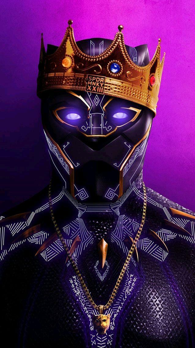 Black-Panther-Hip-Hop-Crown-iPhone-Wallpaper - IPhone