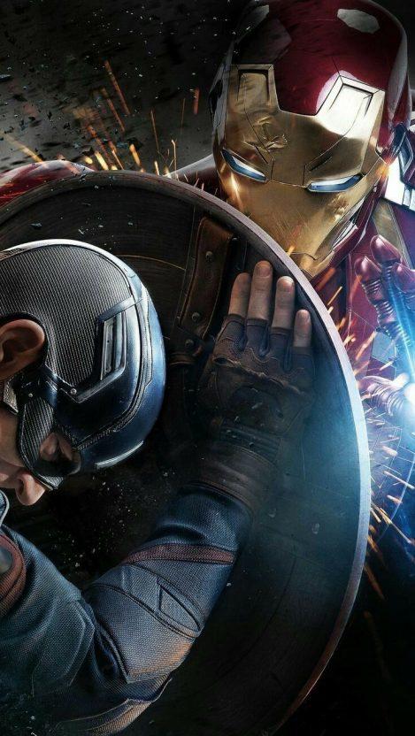 Captain America vs Iron Man iPhone Wallpaper iphoneswallpapers com