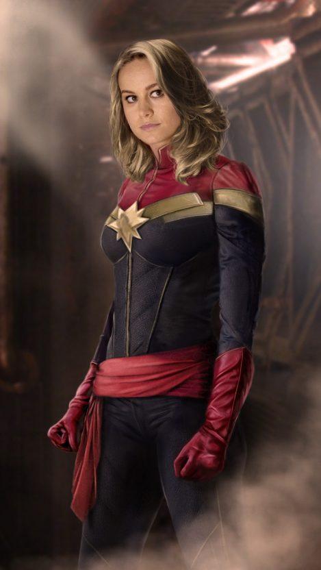 Captain Marvel Brie Larson Carol Denvers iPhone Wallpaper iphoneswallpapers com