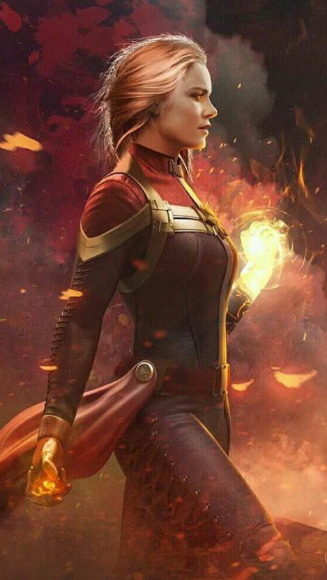 Captain Marvel Brie Larson iPhone Wallpaper iphoneswallpapers com