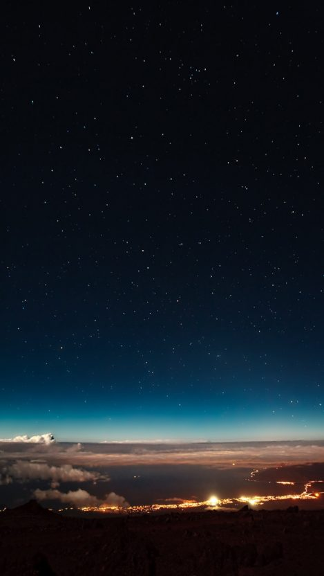 City from Sky Night Stars iPhone Wallpaper iphoneswallpapers com