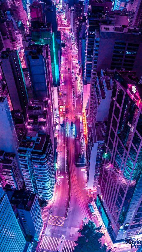 Glowing City in Night iPhone Wallpaper iphoneswallpapers com