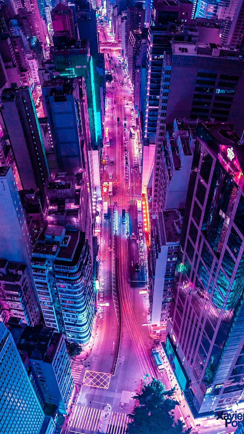 Glowing City in Night iPhone Wallpaper iphoneswallpapers com