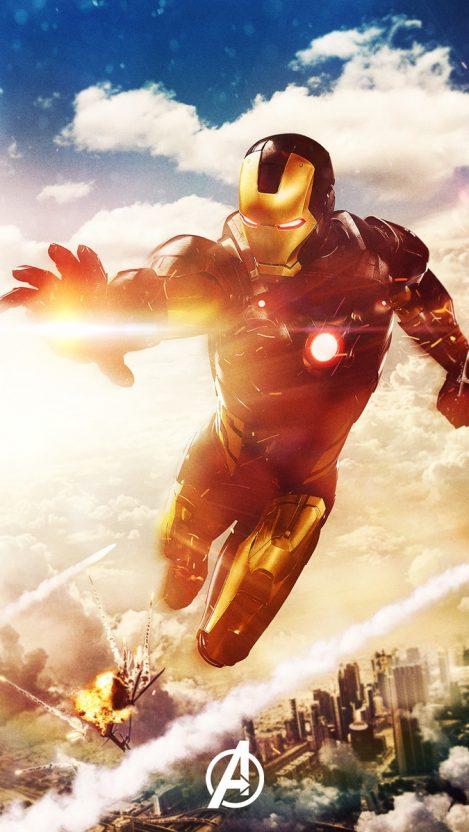 Iron Man Avengers iPhone Wallpaper iphoneswallpapers com