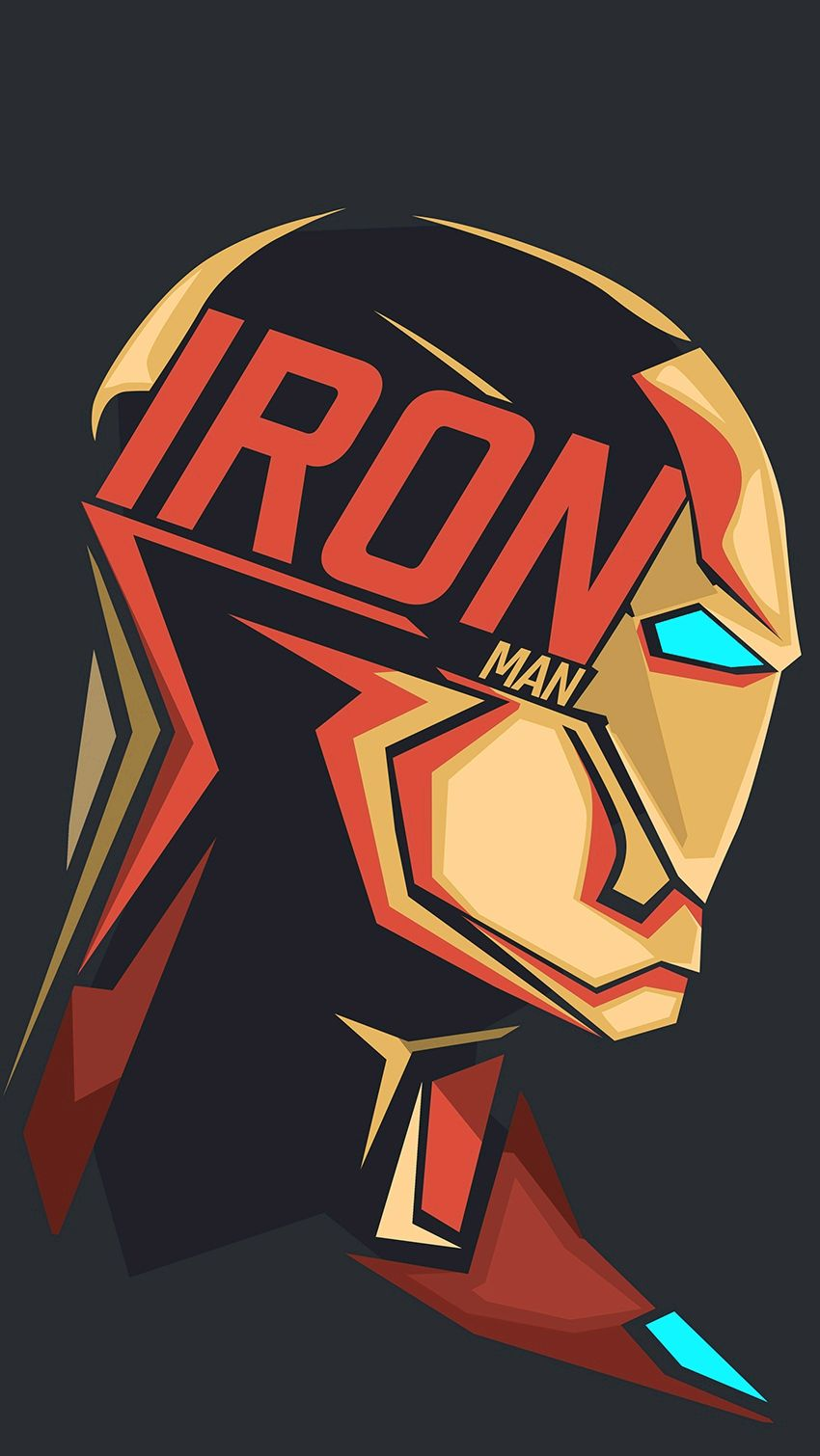 Iron Man Text Art iPhone Wallpaper iphoneswallpapers com