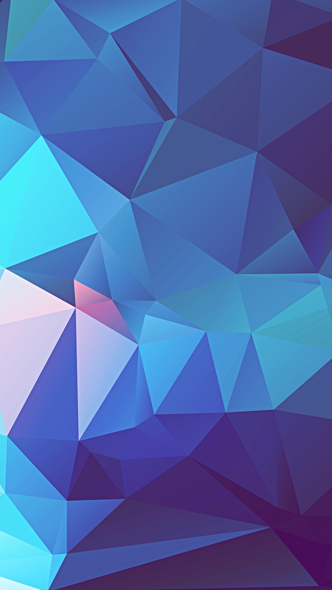 Low poly texture Blue iPhone Wallpaper iphoneswallpapers com