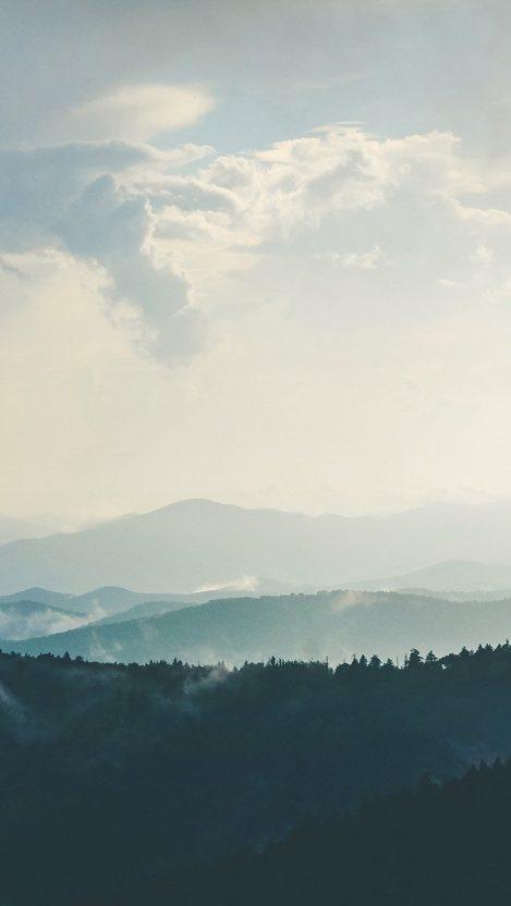 Mountain morning sky bird blue nature iPhone Wallpaper iphoneswallpapers com