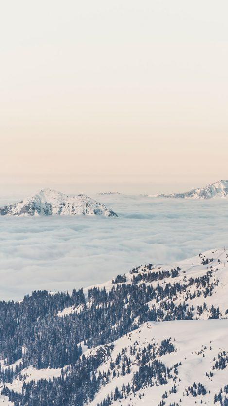 Mountains Winter iPhone Wallpaper iphoneswallpapers com