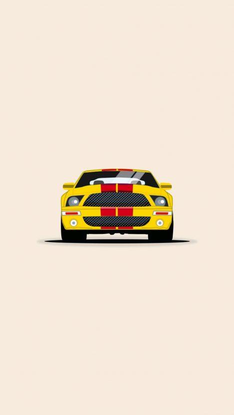 Mustang Minimal iPhone Wallpaper iphoneswallpapers com