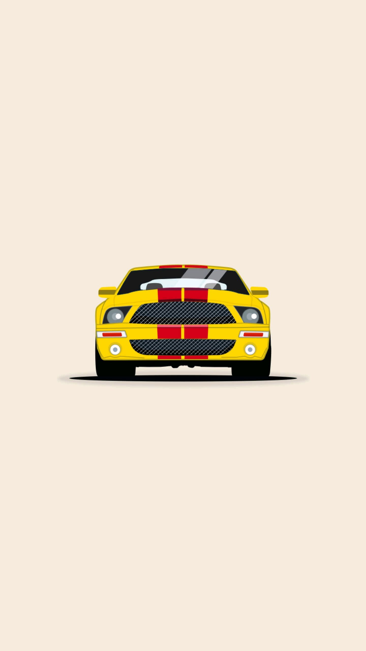 Mustang Minimal iPhone Wallpaper iphoneswallpapers com