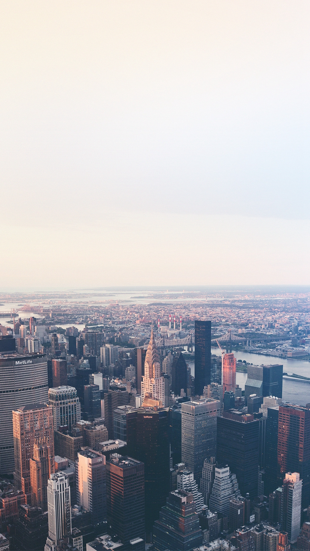 New York Flare Blue City Sky iPhone Wallpaper iphoneswallpapers com