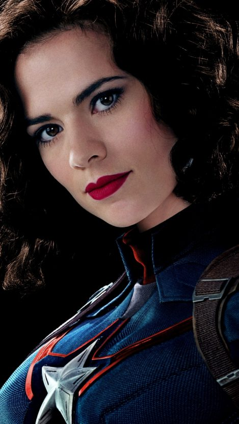 Peggy carter hayley atwell captain america iPhone Wallpaper iphoneswallpapers com