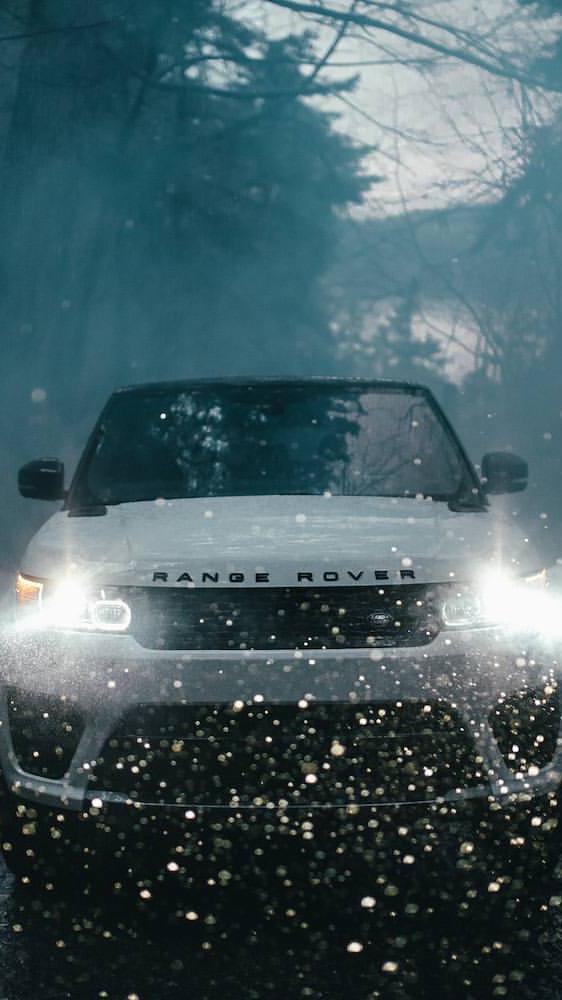 Range Rover Sport Lights Bokeh iPhone Wallpaper iphoneswallpapers com