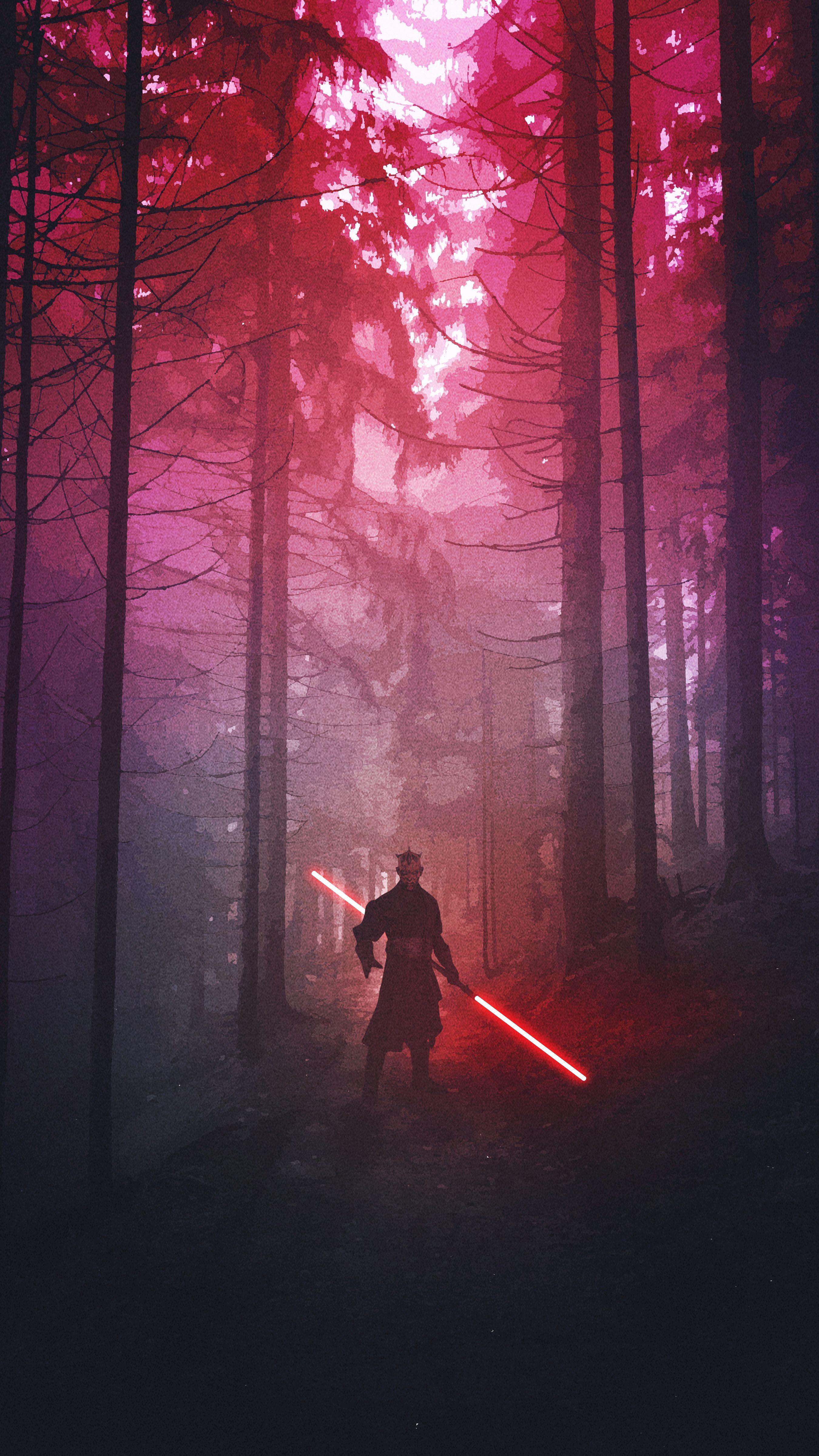 Modern Day Wallpaper Forest Star Wars Furnishings