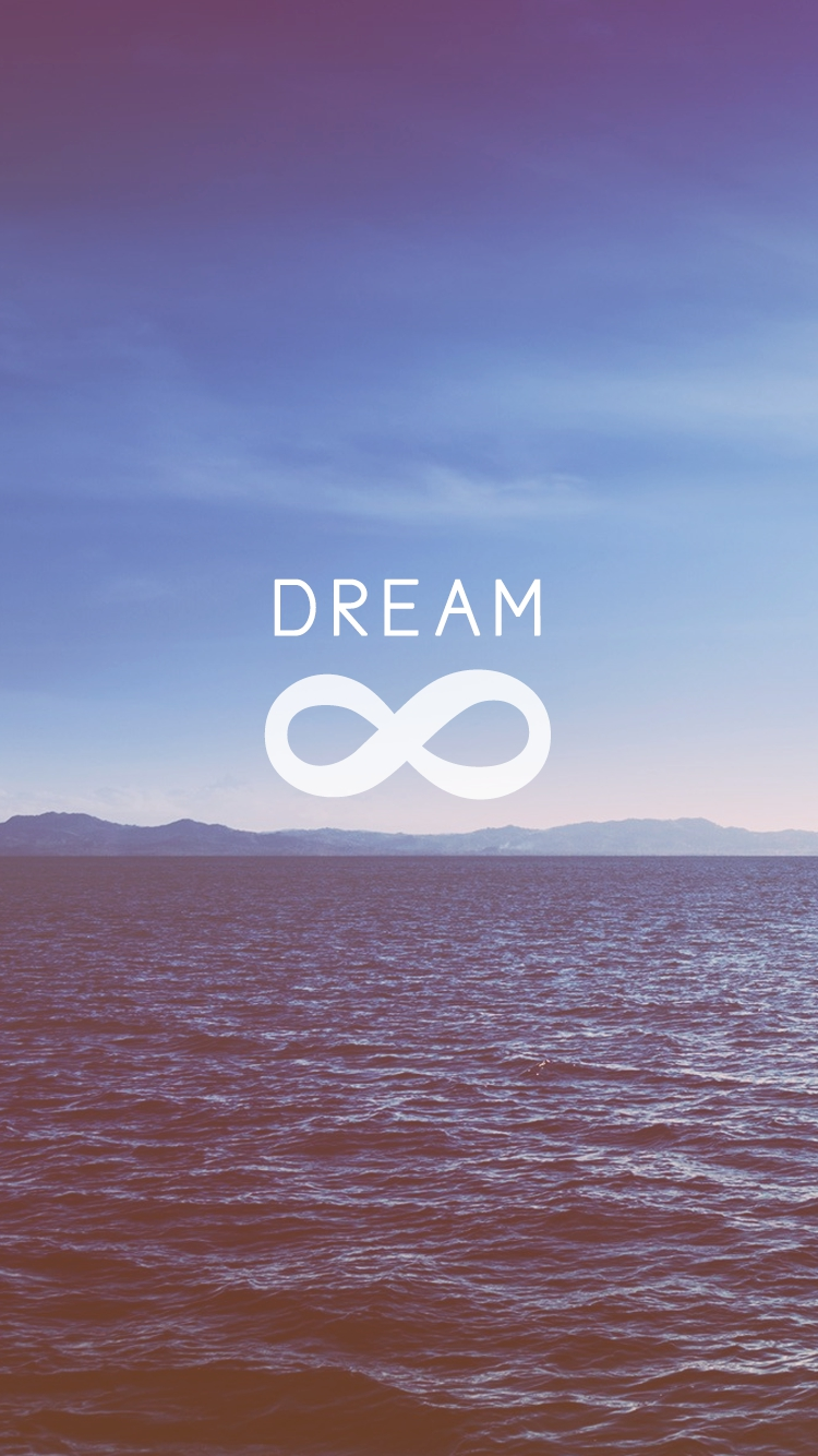 infinity symbol dream iPhone Wallpaper iphoneswallpapers com
