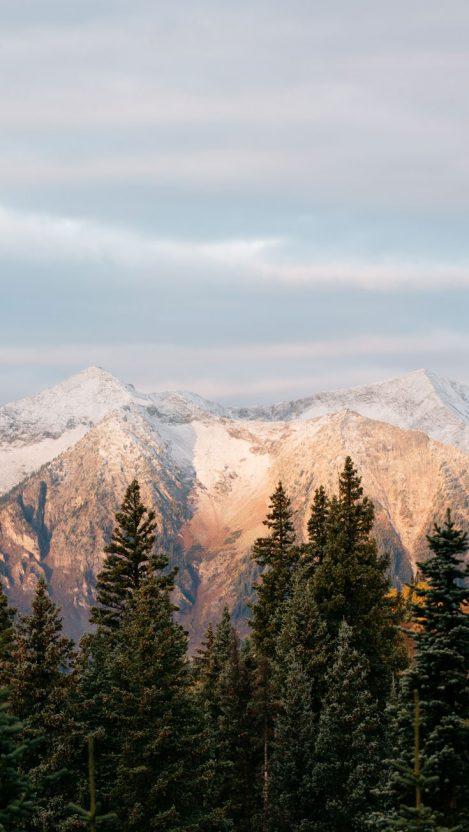 mountain sunset iPhone Wallpaper iphoneswallpapers com