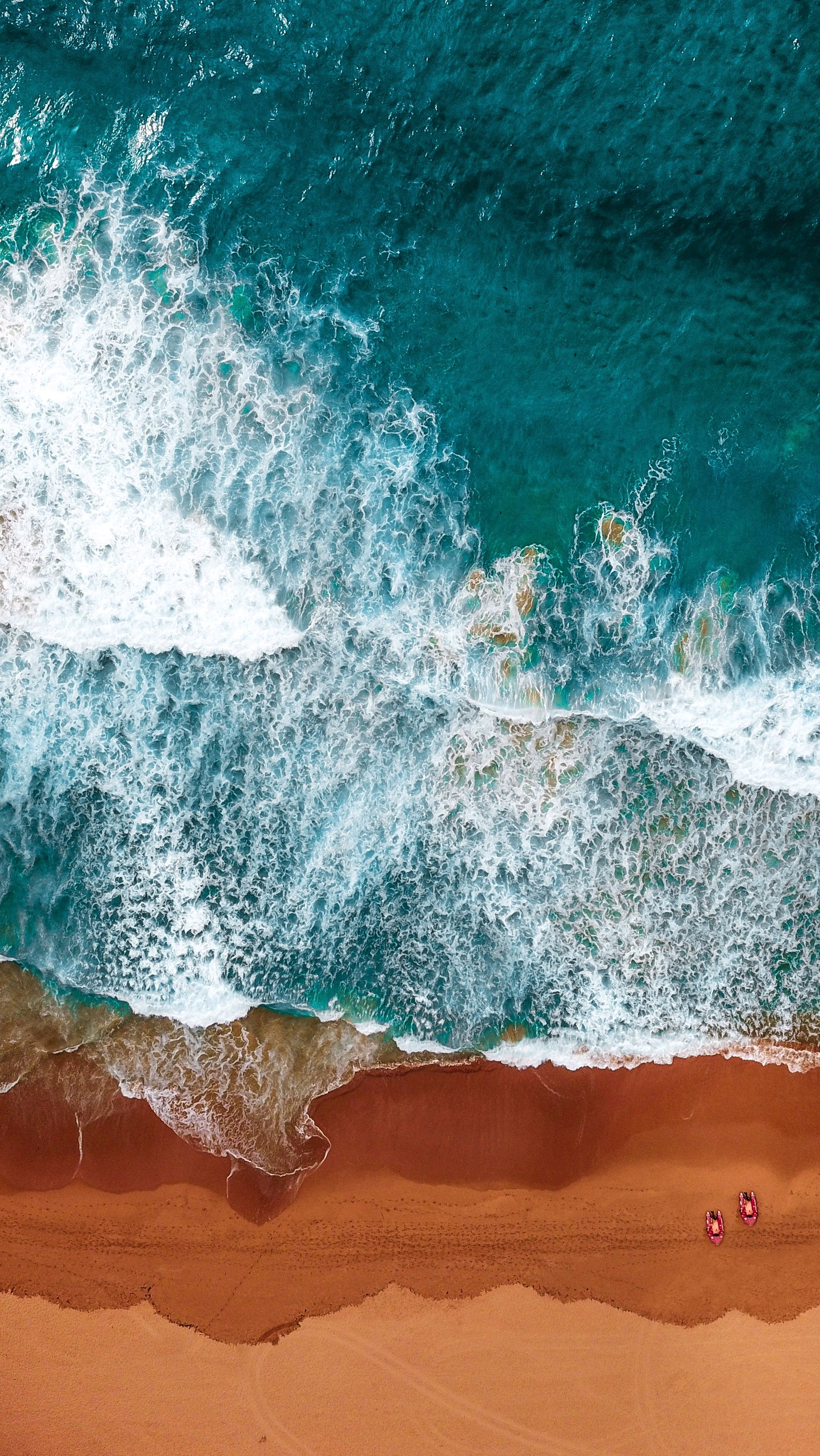 Aerial View Beach Boats iPhone Wallpaper iphoneswallpapers com