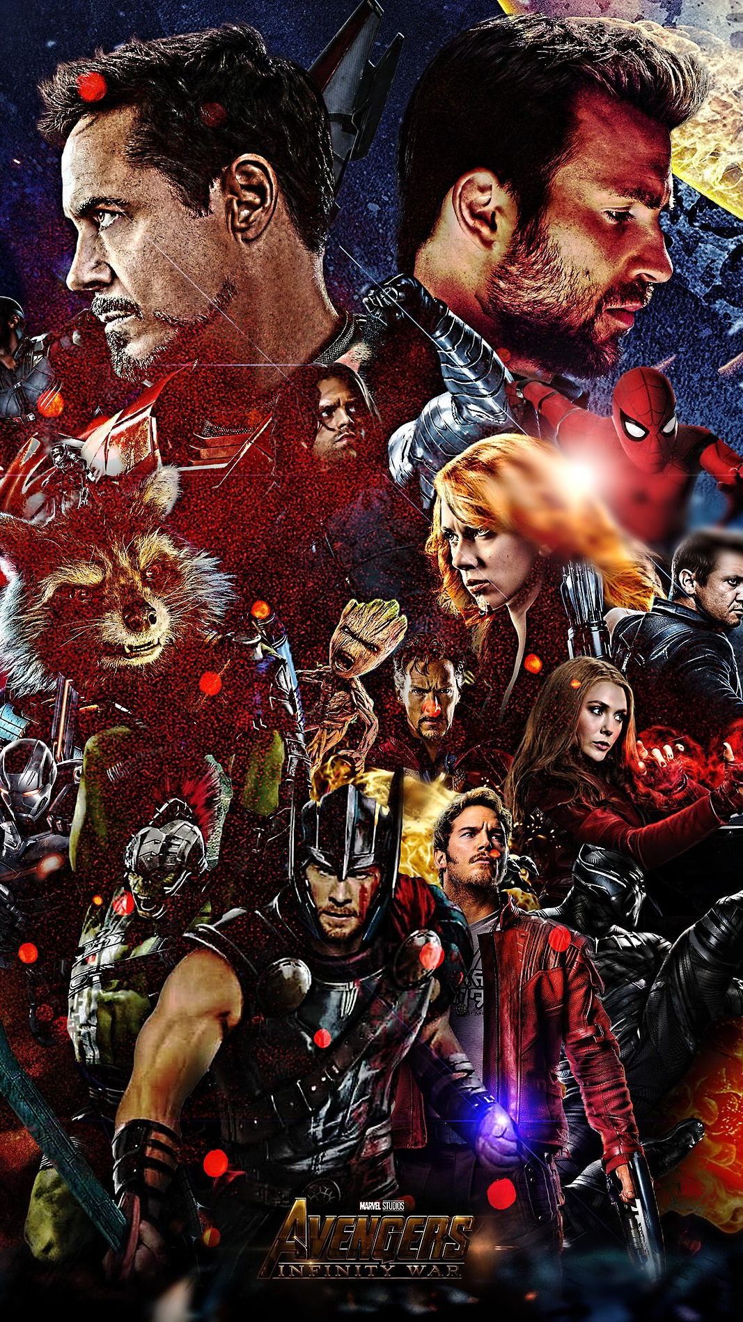 Avengers Infinity War Superheroes Poster iPhone Wallpaper iphoneswallpapers com