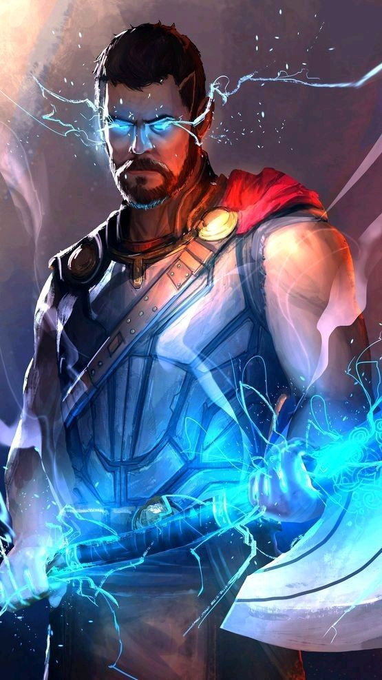 Avengers Thor Weapon Stormbreaker iPhone Wallpaper iphoneswallpapers com