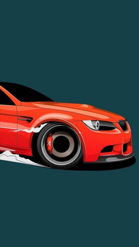 BMW Car Minimal Art IPhone Wallpaper