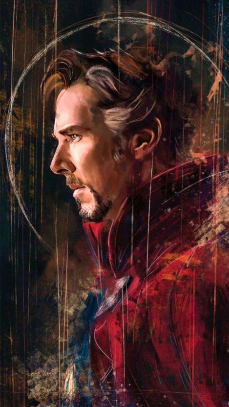 Benedict Cumberbatch Doctor Strange Avengers IPhone Wallpaper