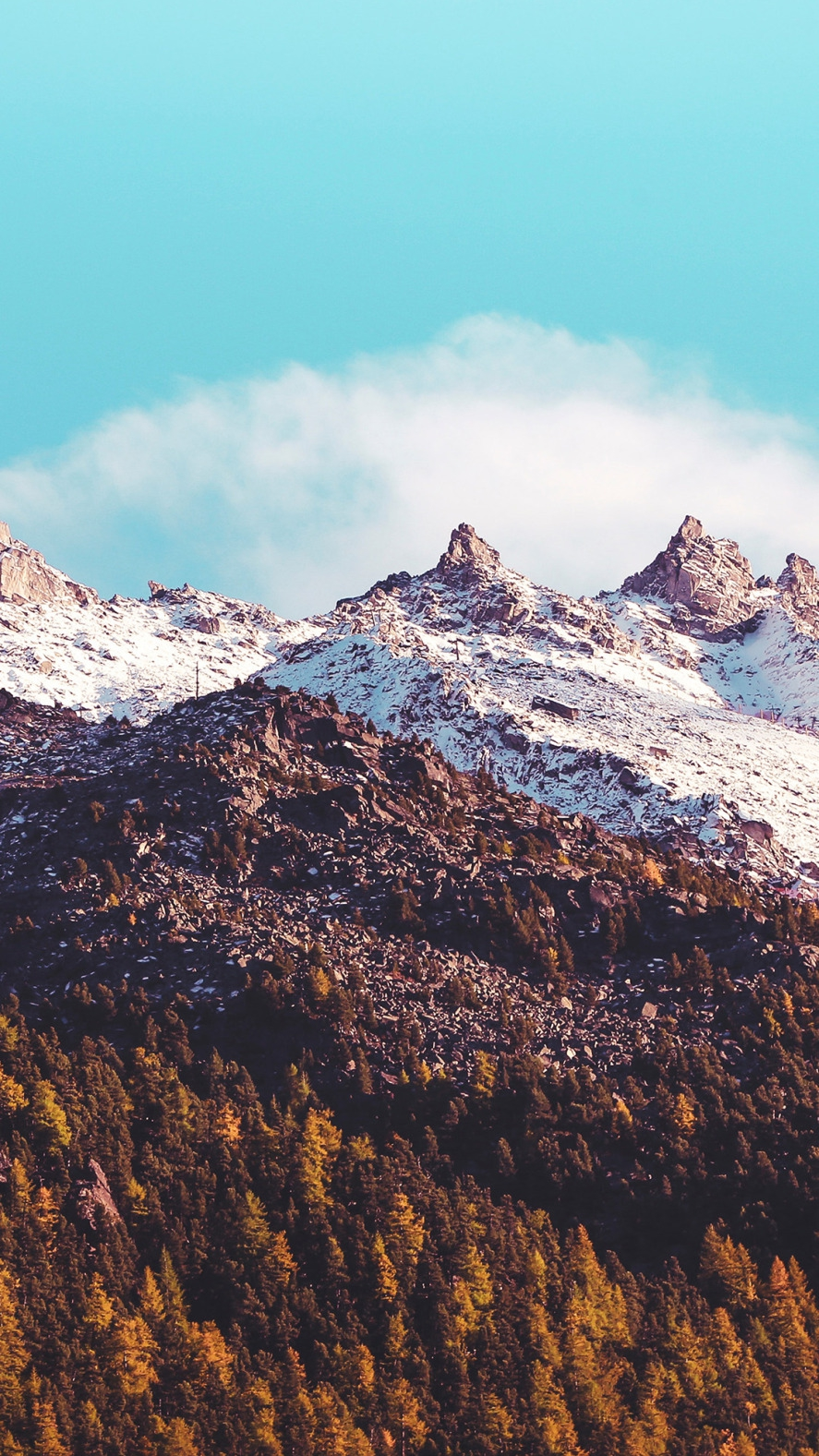 Blue Sky Snow Mountains Nature iPhone Wallpaper iphoneswallpapers com