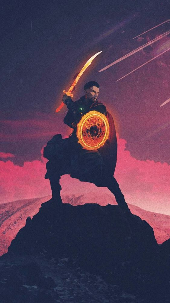 Doctor-Strange-Fighting-with-Thanos-Avengers-iPhone ...