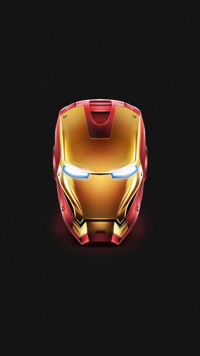 Iron Man Face Minimal iPhone Wallpaper iphoneswallpapers com