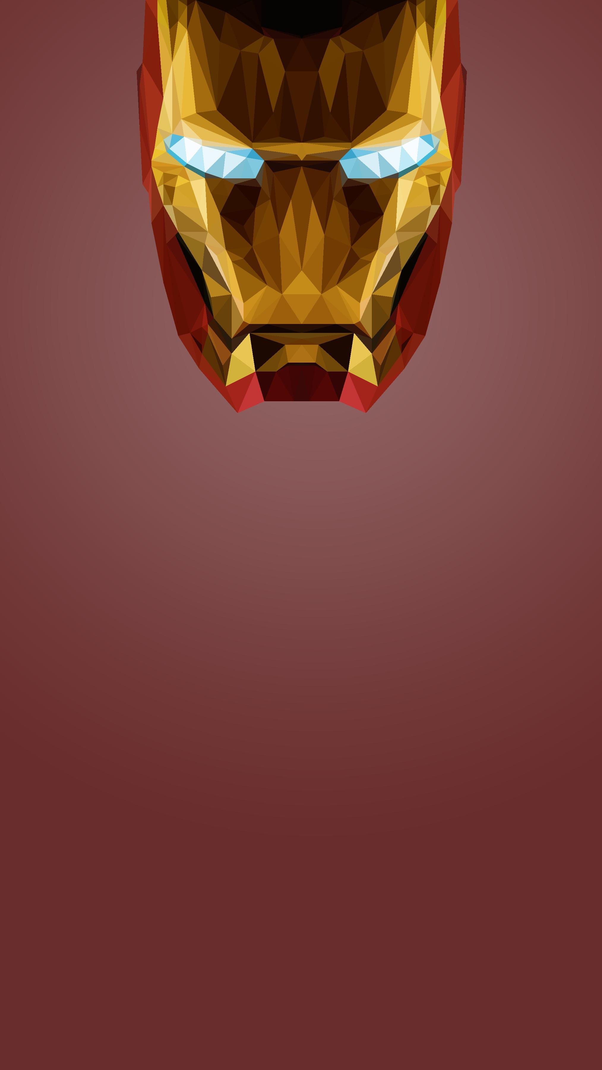 Iron Man Geometric Art iPhone Wallpaper iphoneswallpapers com