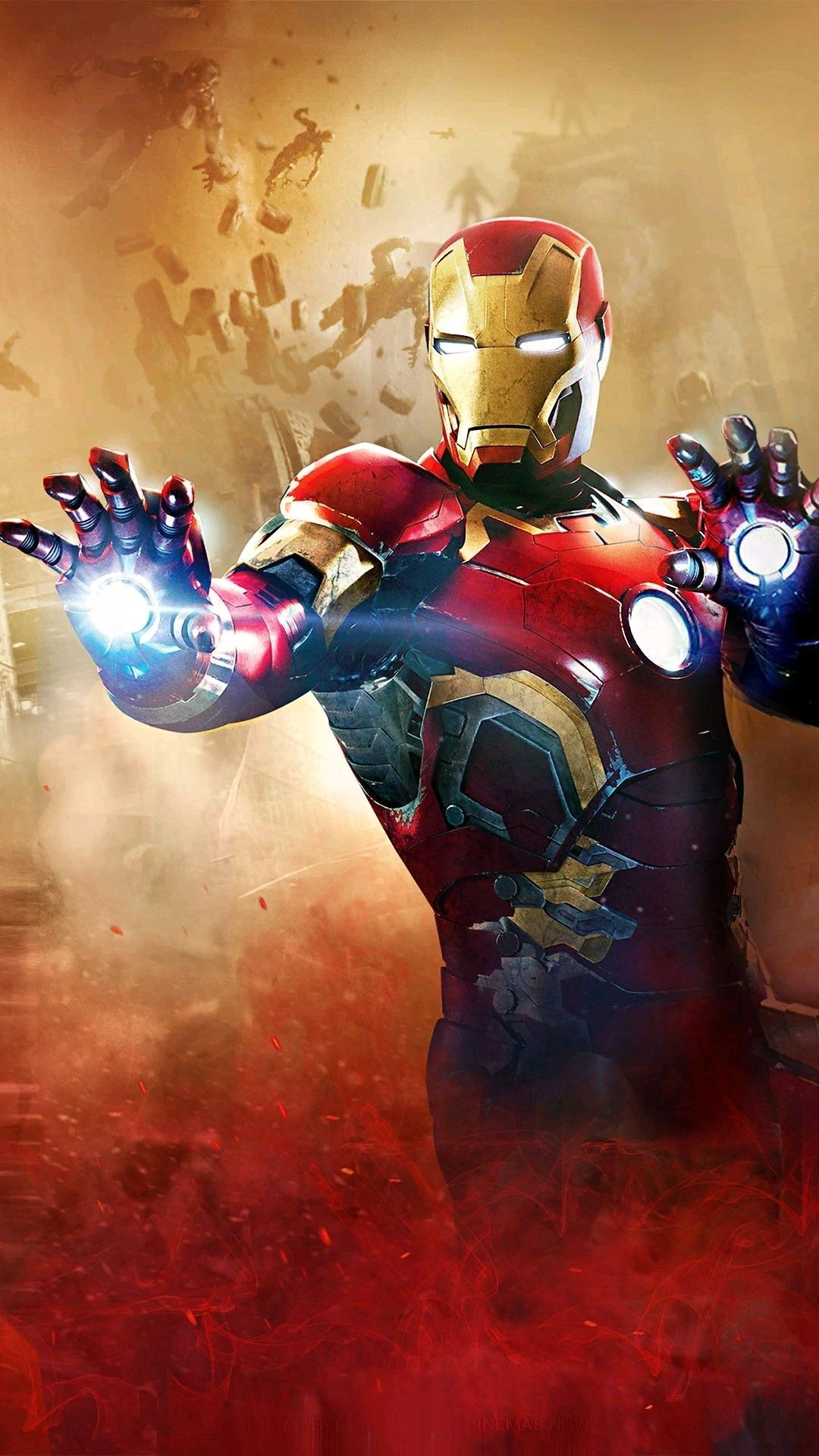 Iron Man Suite Avengers Movie iPhone Wallpaper iphoneswallpapers com