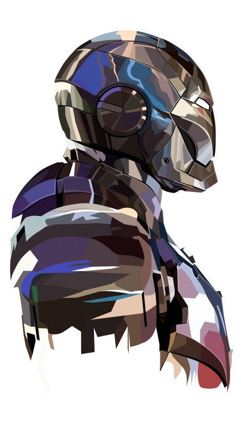 Iron Man armor Mark I Art iPhone Wallpaper iphoneswallpapers com