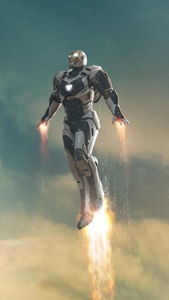 Iron Man in Sky iPhone Wallpaper iphoneswallpapers com