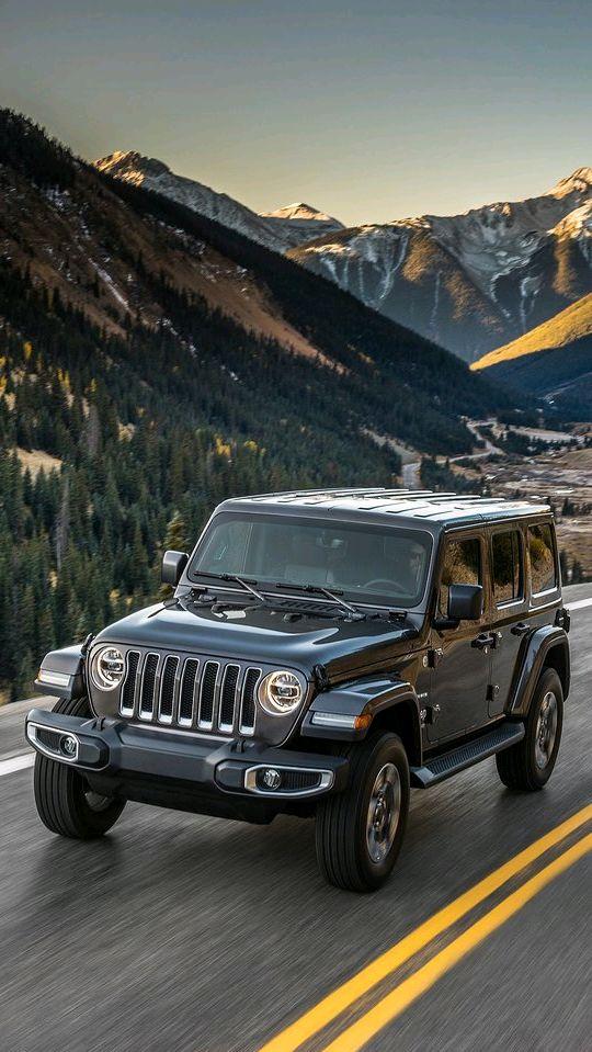Jeep Wrangler Unlimited 2018 Black iPhone Wallpaper iphoneswallpapers com