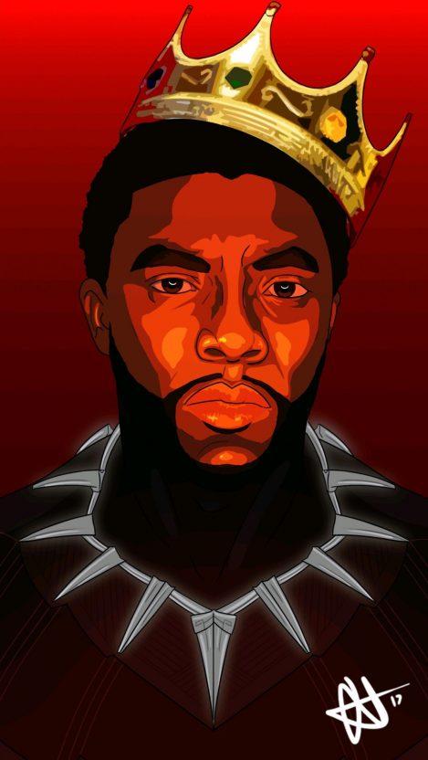 King of Wakanda Black Panther iPhone Wallpaper iphoneswallpapers com