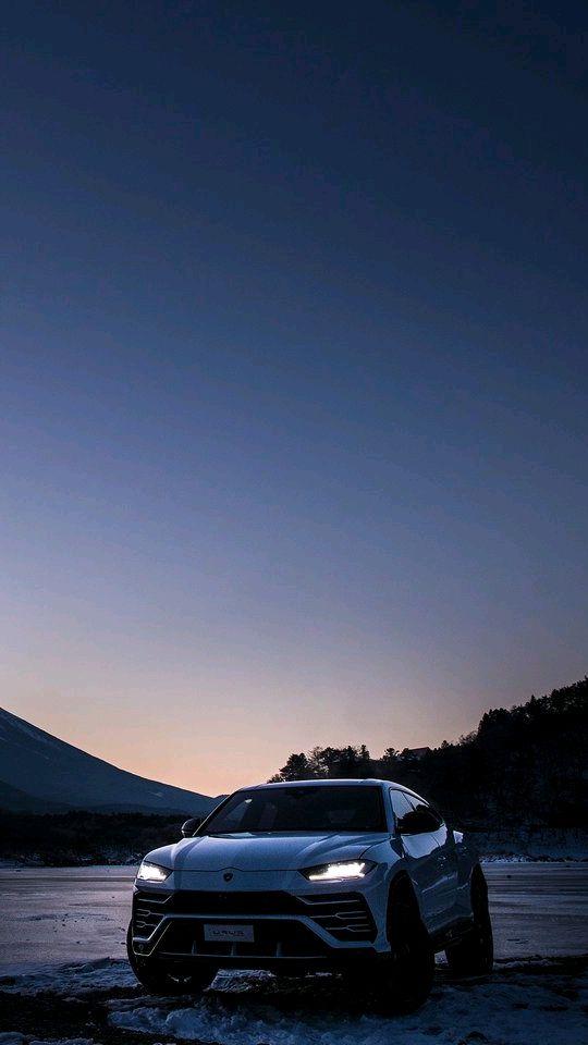 Lamborghini Urus Mount Fuji Japan iPhone Wallpaper iphoneswallpapers com
