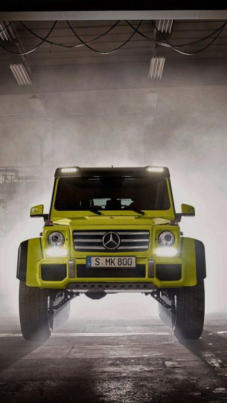 Mercedes Benz G500 4x4 Front iPhone Wallpaper iphoneswallpapers com