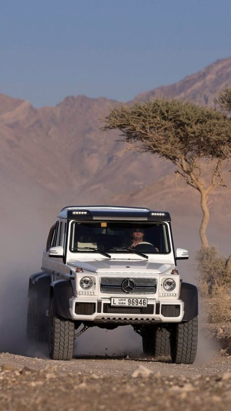 Mercedes Benz G63 Amg 6x6 In Desert Canyon Rocks Iphone