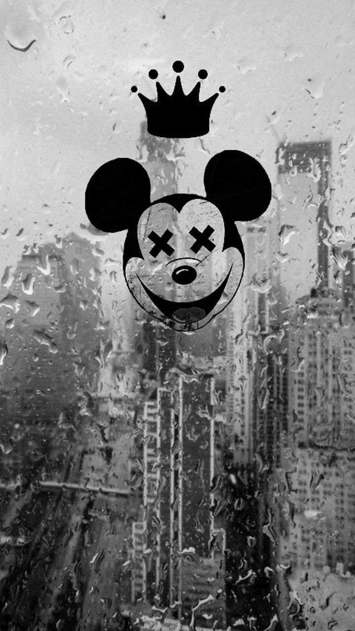 Mickey Mouse Rain iPhone Wallpaper iphoneswallpapers com