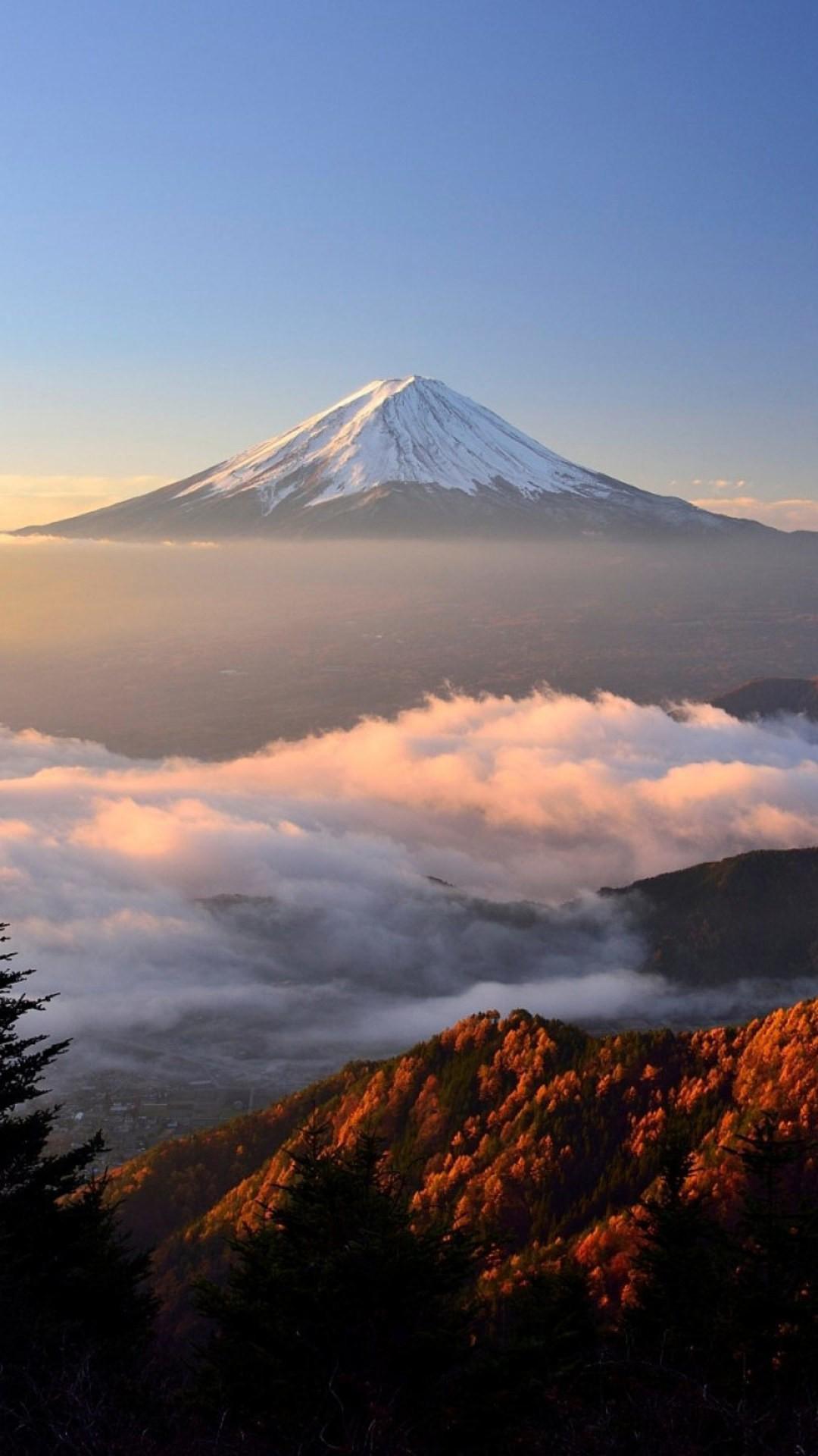 Mount Fuji QHD iPhone Wallpaper iphoneswallpapers com