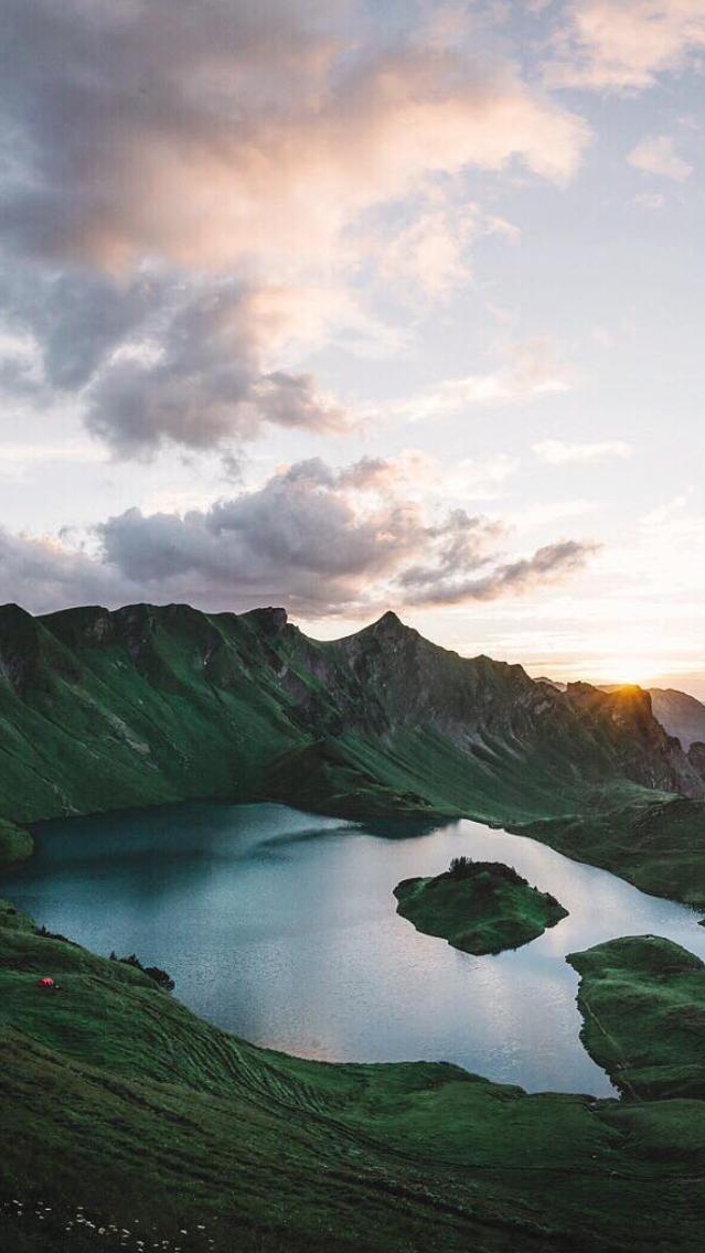 Mountains-Sunset-Hawaii-iPhone-Wallpaper - iPhone ...