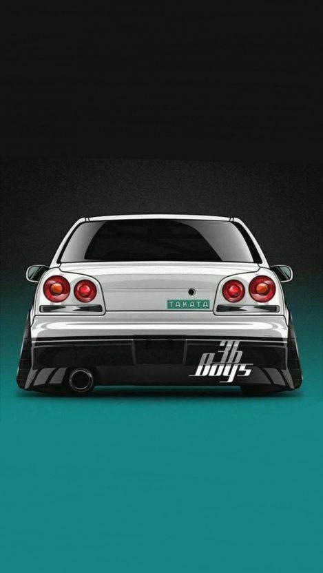Nissan Skyline Modifications iPhone Wallpaper iphoneswallpapers com