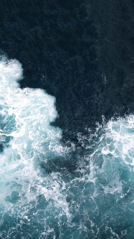 Ocean Blue Water Waves iPhone Wallpaper iphoneswallpapers com