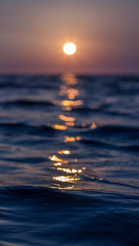Ocean Water Sunset iPhone Wallpaper iphoneswallpapers com
