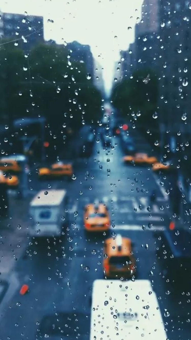 Raindrops over Glass New York iPhone Wallpaper iphoneswallpapers com