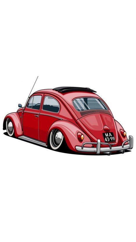 Retro Car Art iPhone Wallpaper iphoneswallpapers com