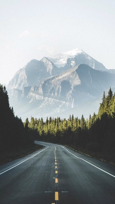 Road to Mountains USA iPhone Wallpaper iphoneswallpapers com