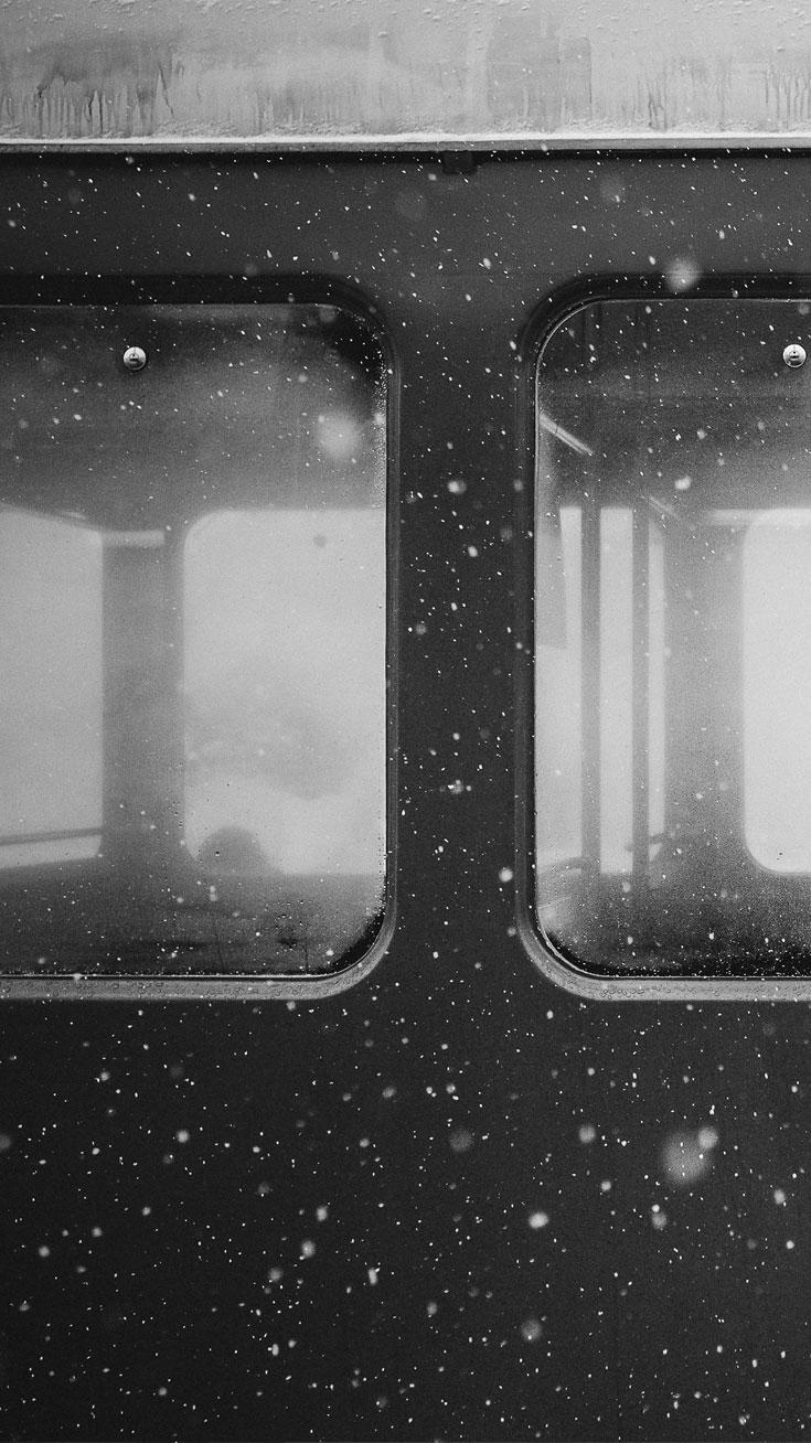 Snowfall Train Window iPhone Wallpaper iphoneswallpapers com